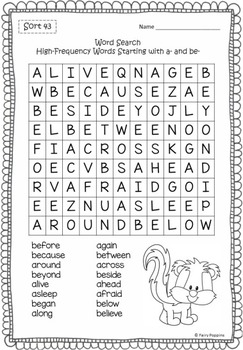 Word Study Games & Worksheets - Within Word Pattern BUNDLE 2