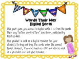 Within Word Pattern Google Slides sorts 1-6 (short & long