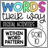 Within Word Pattern: Sort 10 - Review Short Vowel (CVC) and Long Vowel (CVCe)