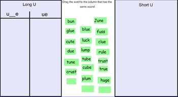 Within Word Pattern Sort For SMARTBOARD!!