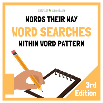 Within Word Pattern Spellers Words Their Way Word Searches - 3rd Edition