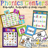 Digraphs, Trigraphs, & Long Vowel Pattern Phonics Centers