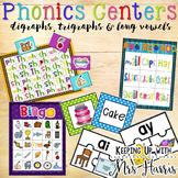 Digraphs, Trigraphs, & Long Vowel Pattern Phonics Centers