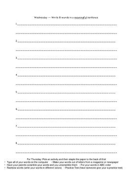 Within Word Pattern Unit 2 Homework