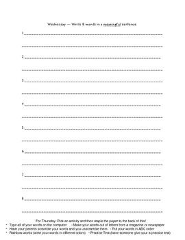 Within Word Pattern Unit 3 Homework