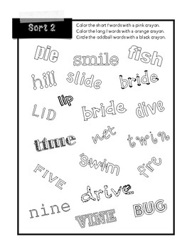 Within Word Pattern 1-5 Word Study Word Work Center Activities Word Hunt Game