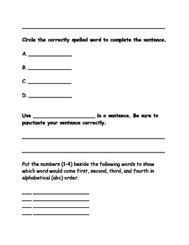 Within Word Spelling Activity Pack