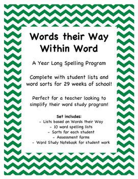 Within Word Spelling Lists