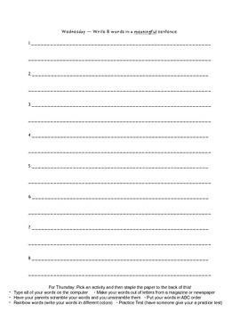 Within Word Unit 1 Homework