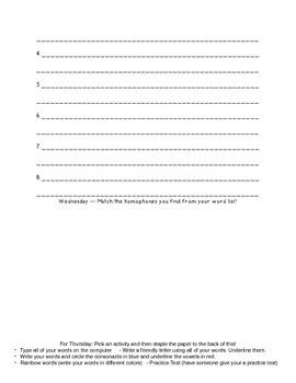Within Word Unit 5 Homework