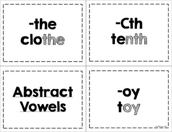 Within Word Word Study Feature Cards