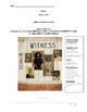 Witness by Karen HESSE STUDENT study guide workbook