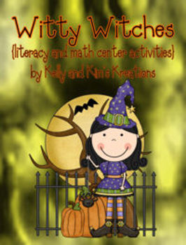 Witty Witches {literacy and math center activities}