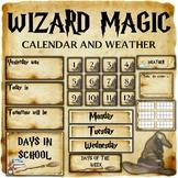 Wizard Classroom Decor: Calendar and Weather