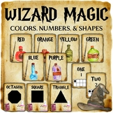 Wizard Classroom Decor: Color, Number, and Shape Posters