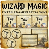 Wizard Classroom Decor: Editable Name Plates and Signs