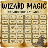 Wizard Classroom Decor: Editable Supply Labels