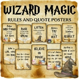 Wizard Classroom Decor: Rules and Quote Posters