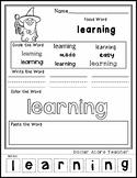 Wizard - Editable Word Worksheet w/ Theme Focus