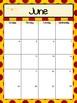 Wizard Inspired Monthly Calendar Refill 2017-2018