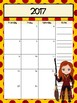 Wizard Inspired Monthly and  Weekly Calendar Refill 2017-2018