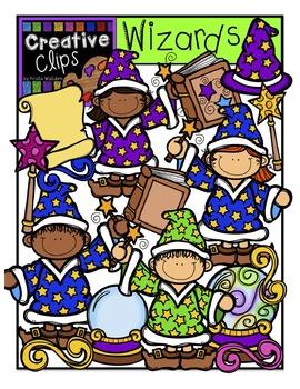 Wizard KIDS {Creative Clips Digital Clipart}