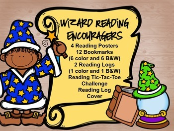 Wizard (Magic) Reading Encouragers- Reading Logs, Bookmark