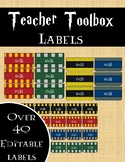 Harry Potter Inspired Teacher Toolbox Labels- EDITABLE