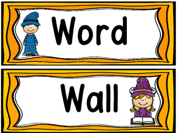 Wizard/Magic Theme Word Wall and 200 Fry Words