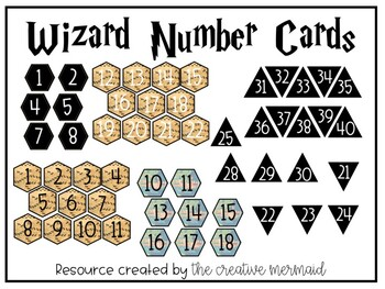 Wizard Number Cards