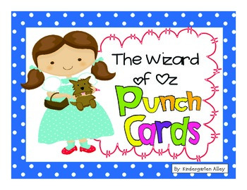 Wizard Of Oz Behavior Punch Card