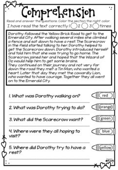 Wizard Of Oz Literacy Pack