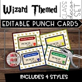 Wizard Punch Cards Classroom Themed Decor  - Editable