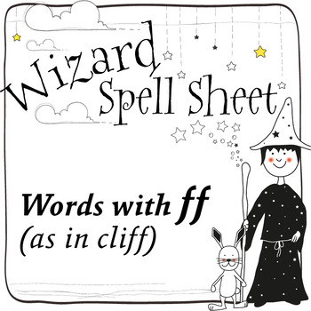 Wizard Spell Sheets: Words with ff as in cliff