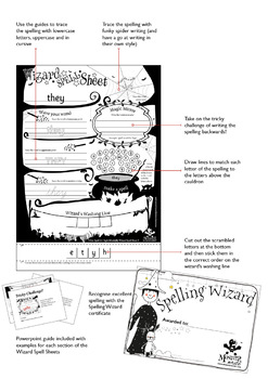 Wizard Spell Sheets: Words with or as in horn