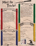 Wizard Style Teacher Introduction Letter Template