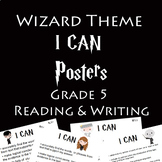 """Wizard Theme """"I CAN"""" Statements - G5 Reading & Writing"""