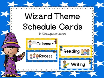 Wizard Theme Schedule Cards