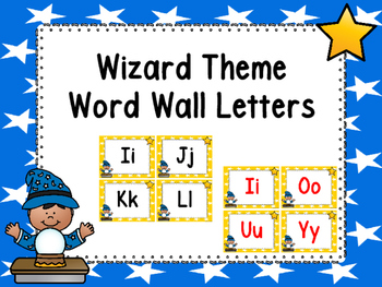 Wizard Word Wall Letters