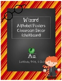 Wizard Classroom Theme - Alphabet Posters (Striped)