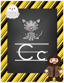 Wizard Classroom Theme - Alphabet Posters (Striped)
