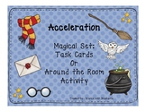 Wizard Themed Acceleration Task Cards or Around the Room Activity