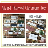 Wizard Themed Classroom Jobs-Editable