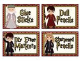 Harry Potter Themed Classroom Labels