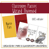 Wizard Themed Classroom Passes-EDITABLE
