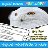 Student Note to the Teacher (Owl Post) - Wizard Themed