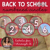 Wizard Themed Number Circle Labels 1 to 36