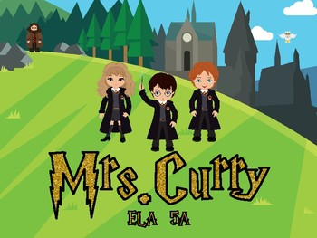 Wizard Themed  Sign Custom Listing for Mrs. Curry