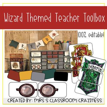 Wizard Themed Teacher Toolbox-Editable
