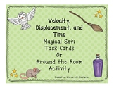 Wizard Themed Velocity, Displacement, and Time Task Cards